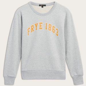 Frye Crewneck Heather Gray Sweatshirt long sleeve